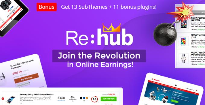 REHub - Price Comparison, Multi Vendor Marketplace for Wordpress, Affiliate Marketing, Review Theme